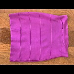 BCBG Pink/purple Bandage Skirt Size Sm